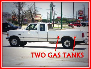 two gas tanks